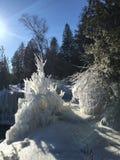 Lake Michigan klippor i vinter Fotografering för Bildbyråer