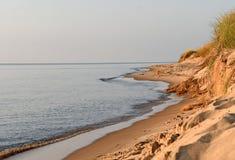 Lake Michigan kustlinje Royaltyfri Fotografi