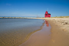 Lake Michigan Light House Royalty Free Stock Photo