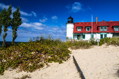 Lake Michigan Lighthouse Royalty Free Stock Photography