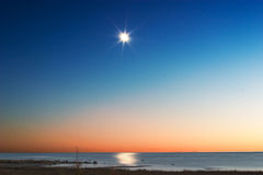 Lake Michigan Moonrise, Stock Photography