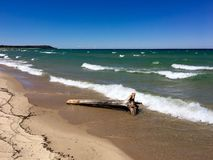 Lake Michigan near Sleeping Bear Dunes Royalty Free Stock Photo