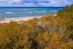 Lake Michigan på Ludington Michigan Arkivfoto