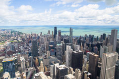 Lake michigan panorama from chicago tower Royalty Free Stock Images