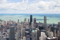 Lake michigan panorama from chicago tower Royalty Free Stock Photography