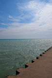 Lake Michigan Pier Royalty Free Stock Photos