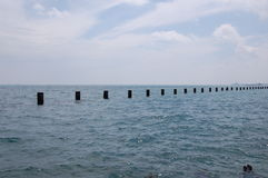 Lake Michigan posts Royalty Free Stock Images