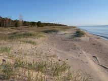 Lake Michigan Sand Dunes. Sand dunes on the shore of Lake Michigan Royalty Free Stock Photography