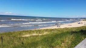 Lake Michigan. Saugatuck Beach in summer Royalty Free Stock Images