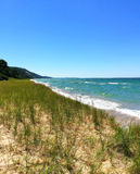 Lake Michigan Shoreline Royaltyfri Bild