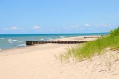 Lake Michigan Shoreline. The shoreline breakers of Lake Michigan at Stock Images