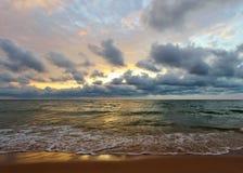 Lake Michigan solnedgång Royaltyfri Fotografi