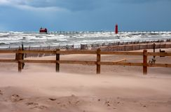Lake Michigan storm Royalty Free Stock Image