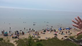 Lake Michigan strand Royaltyfri Bild
