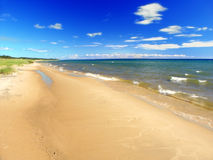 Lake Michigan Summer Beach Landscape Stock Photography