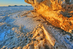 Lake Michigan Winter Shoreline Stock Photography