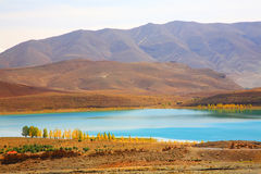Lake in Middle Atlas Mountains. Morocco, Africa royalty free stock images