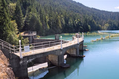 Lake Mills and Glines Canyon Dam Royalty Free Stock Photography