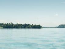 Lake of Millstatt with austrian alps on background Stock Image
