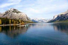 Lake Minnewanka. At Banff National park. Alberta. Canada, Oct. 2011 Stock Photos