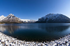 Lake Minnewanka at Banff Royalty Free Stock Photo