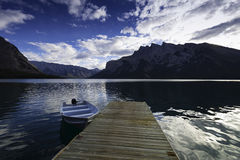 Lake Minnewanka, Banff, Alberta, Canada. Stock Photos