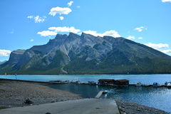 Lake Minnewanka,Banff National Park Royalty Free Stock Images