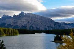 Nature of Lake Minnewanka 9 stock photography