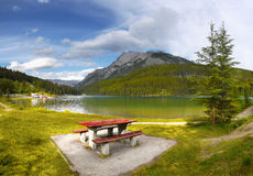 Lake Minnewanka, Canadian Rockies Stock Image