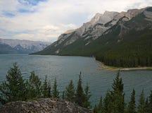 Lake Minnewanka at Dusk Royalty Free Stock Photo