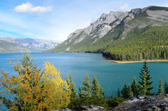 Lake Minnewanka and Mount Inglismaldie Royalty Free Stock Photography