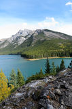 Lake Minnewanka and Mount Inglismaldie Royalty Free Stock Images