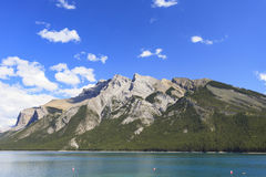 Lake Minnewanka. Panoramic view of lake Minnewanka in canada Stock Photos