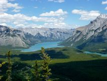Lake Minnewanka. Rockie Mountains, Banff Canada royalty free stock photo