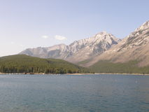 Lake Minnewanka in the Rocky Mountains in Canada. Lake Minnewanka in the Rocky Mountains in Western Canada Stock Image