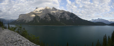 Lake Minnewanka Trail Stock Image