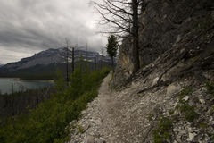 Lake Minnewanka Trail Royalty Free Stock Photography