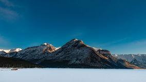 Lake Minnewanka. Winter Scenery Lake Minnewanka in Banff National Park Alberta Canada Royalty Free Stock Image