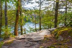 Lake Minnewaska Landscape Royalty Free Stock Photo