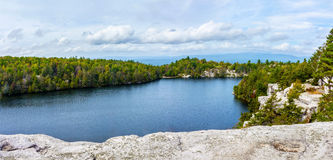 Lake Minnewaska Panorama Royalty Free Stock Photography