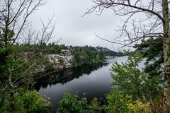 Lake Minnewaska in Summer stock photo