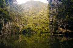 Lake Mirror in Perak. Malaysia with dreamy and blurry effects Stock Photography