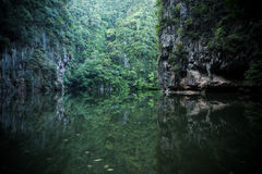 Lake Mirror in Perak. Malaysia with dreamy and blurry effects Stock Image