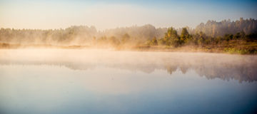 Lake mist Royalty Free Stock Images