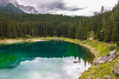 Lake Misurina in the Alps Royalty Free Stock Photography