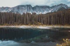 Lake Misurina in the Alps Royalty Free Stock Photo
