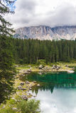 Lake Misurina in the Alps Stock Photography
