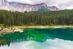 Lake Misurina in the Alps. Landscape the wild nature lake Misurina in the Alps Stock Image
