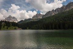 Lake Misurina in Dolomites Stock Photography