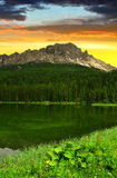 Lake Misurina Stock Photo